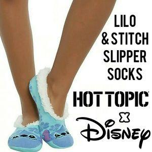 Lilo & Stitch Hibiscus Slipper Socks - Disney